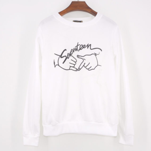 SEVENTEEN Hand Sign Pullover Sweater 2018